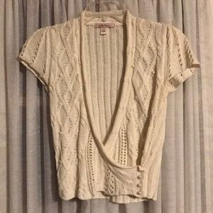 Shrug junior small intuitions cable knit ivory